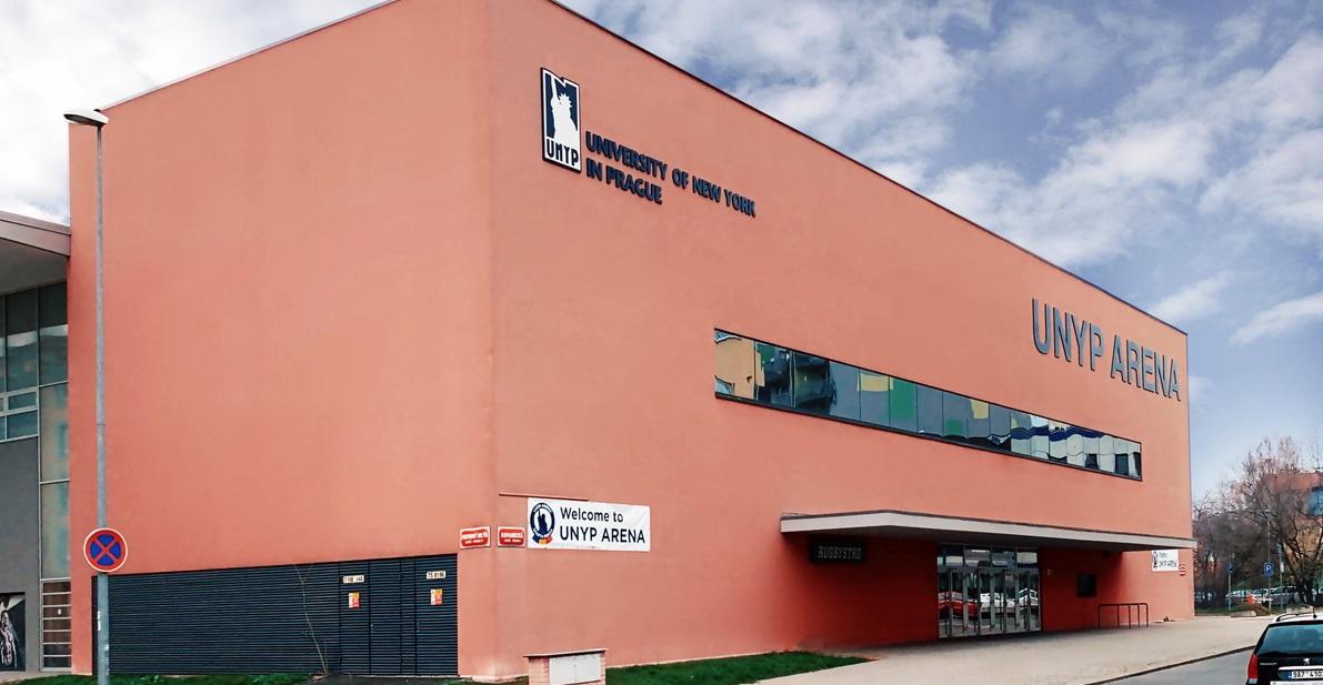 Новая спортивная арена Нью-Йоркского университета в Праге (UNYP)