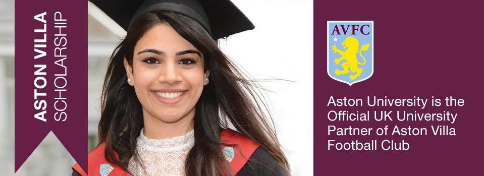 Football scholarship Aston Villa Scholarship from Aston University in the UK