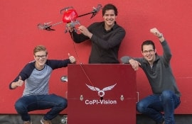 Students of the Dutch University Inholland has developed a drone for the fire service